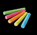 Скачать PNG картинку на прозрачном фоне Пять разноцветных мелков с круглым сечением