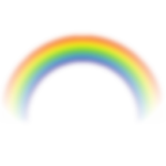 Скачать PNG картинку на прозрачном фоне Радуга нарисованная, размытая