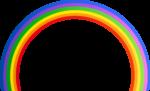 Скачать PNG картинку на прозрачном фоне Радуга нарисованная с цветным градиентов