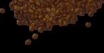 Скачать PNG картинку на прозрачном фоне Рассыпанные кофейные зерна