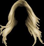Скачать PNG картинку на прозрачном фоне Растрепанные нарисованные женские светлые волосы, вид спереди