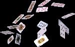 Скачать PNG картинку на прозрачном фоне Разбросанные игральные карты.