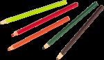 Скачать PNG картинку на прозрачном фоне Разбросанные карандаши, заточенные