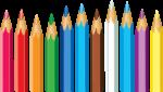 Скачать PNG картинку на прозрачном фоне Разноцветные карандаши, заточенные, частично