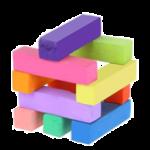 Скачать PNG картинку на прозрачном фоне Разноцветные мелки в виде домика с квадратным сечением