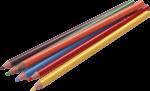 Скачать PNG картинку на прозрачном фоне Разноцветный карандаши, заточенные