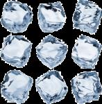 Скачать PNG картинку на прозрачном фоне Разные кубики льда