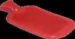 Скачать PNG картинку на прозрачном фоне Резиновая грелка, красная, вид сбоку