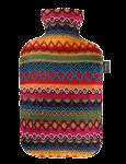 Скачать PNG картинку на прозрачном фоне Резиновая грелка обернута тканью разноцветной