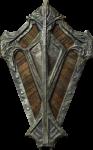 Скачать PNG картинку на прозрачном фоне Ромбовидный деревянно-металлический щит