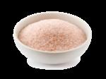 Скачать PNG картинку на прозрачном фоне Розовая соль в тарелке