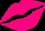 Скачать PNG картинку на прозрачном фоне Розовый нарисованный фломастером след от помады