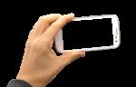 Скачать PNG картинку на прозрачном фоне Рука держит смартфон