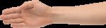Скачать PNG картинку на прозрачном фоне Рука с ладошкой ребром