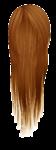 Скачать PNG картинку на прозрачном фоне Рыжие дилнные женские волосы, длинные, вид сзади