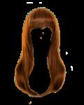 Скачать PNG картинку на прозрачном фоне Рыжие женские волосы, длинные
