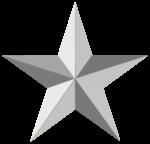 Скачать PNG картинку на прозрачном фоне Серая пятиконечная звезда