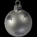 Скачать PNG картинку на прозрачном фоне серебряный новогодний шар