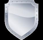 Скачать PNG картинку на прозрачном фоне Щит нарисованный серебристый с бликом