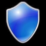 Скачать PNG картинку на прозрачном фоне Щит синий, нарисованный с закругленными краями, простой