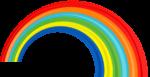 Скачать PNG картинку на прозрачном фоне Широкая нарисованная радуга