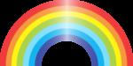 Скачать PNG картинку на прозрачном фоне Широкая нарисованная радуга с бликом