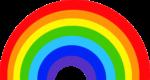Скачать PNG картинку на прозрачном фоне Шировая нарисованная радуга