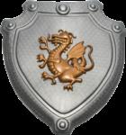 Скачать PNG картинку на прозрачном фоне Шит с драконом