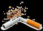 Скачать PNG картинку на прозрачном фоне Сигарета поломана и высыпался табак