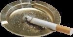 Скачать PNG картинку на прозрачном фоне Сигарета тлеет в металлическоей пепельнице