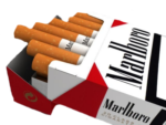 Скачать PNG картинку на прозрачном фоне Сигареты торчат из пачки сигарет