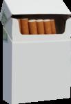 Скачать PNG картинку на прозрачном фоне Сигареты в открытой пачке, вид спереди