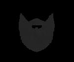Скачать PNG картинку на прозрачном фоне Силуэт бороды среднего размера