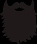 Скачать PNG картинку на прозрачном фоне Силуэт длинной бороды
