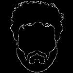 Скачать PNG картинку на прозрачном фоне Силуэт лица с короткой бородой и усами