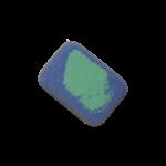 Скачать PNG картинку на прозрачном фоне Сине-зеленая стерка с загругленными краями, вид сверху