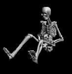 Скачать PNG картинку на прозрачном фоне Скелет, сидит, нарисованный