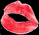 Скачать PNG картинку на прозрачном фоне След от губной помады