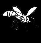 Скачать PNG картинку на прозрачном фоне Смешной контур комара