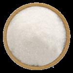 Скачать PNG картинку на прозрачном фоне Соль в деревянной тарелке, вид сверху