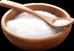 Скачать PNG картинку на прозрачном фоне Соль в ложке и деревянной тарелке