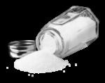 Скачать PNG картинку на прозрачном фоне Соль высыпается из солонки