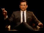 Скачать PNG картинку на прозрачном фоне Солидный мужчина в коостюме сидит в кресле