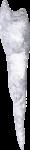 Скачать PNG картинку на прозрачном фоне Сосулька