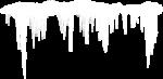 Скачать PNG картинку на прозрачном фоне Сосульки со снегом