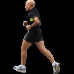 Скачать PNG картинку на прозрачном фоне Спортсмен в черном костюме бежит, вид сбоку