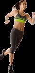 Скачать PNG картинку на прозрачном фоне Спортсменка, бежит, вид спереди