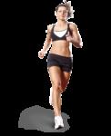 Скачать PNG картинку на прозрачном фоне Спортсменка бежит вперед, вид спереди