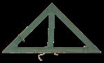 Скачать PNG картинку на прозрачном фоне Старая деревянная линейка под 90 градусов