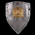 Скачать PNG картинку на прозрачном фоне Старинный металлический щит